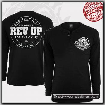 Madball - Revup! - Henley Long Sleeve Black
