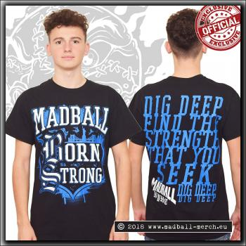 Madball - Born Strong - T Shirt Blue/White print
