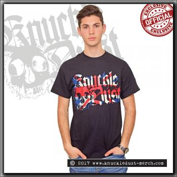 Knuckledust - Logo Union Jack colors - T Shirt