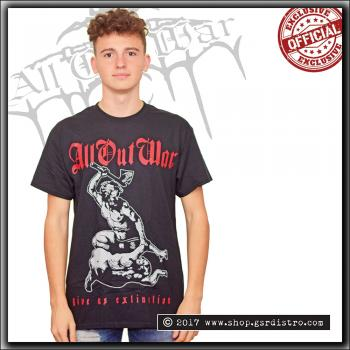 All Out War - Give Us Extinction - T Shirt Black