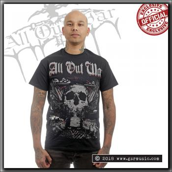 All Out War - Skulls - T Shirt