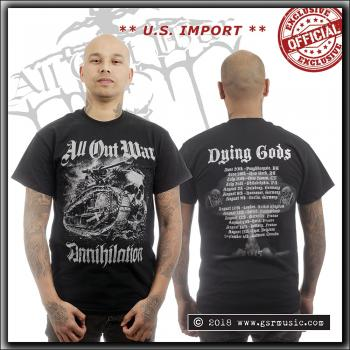 All Out War - Annihilation World Tour 2015 - T Shirt - U.S. Import