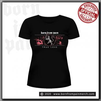 Born From Pain - Lion / True Love - Girly Shirt Black