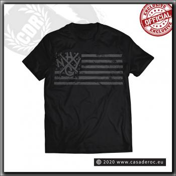 Casa De Roc - NYHC tag & flag - T Shirt Black