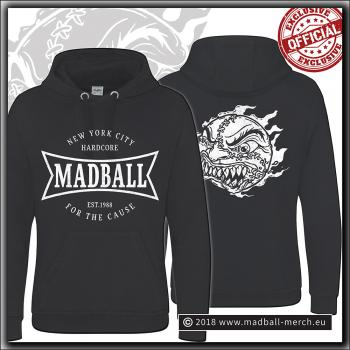 Madball - For The Cause - Graduate Hooded Sweater Jet Black