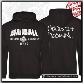 Madball - Hold It Down 2020 - Hooded Sweater Jet Black
