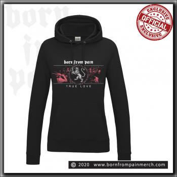 Born From Pain - Lion / True Love - Girl Hooded Sweater Black