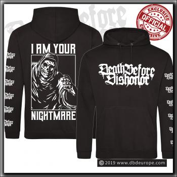 Death Before Dishonor - I Am Your Nightmare - Hooded Sweater Jet Black