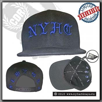 New York Hardcaps - NYHC initials - Blue Embroidery