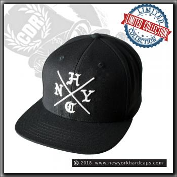 New York Hardcaps - NYHC cross - White Embroidery