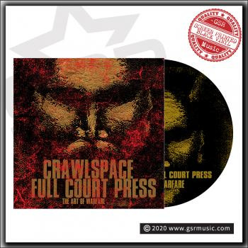 "Crawlspace vs Full Court Press - The Art Of Warfare - Ltd split 12"" with screen print B side"
