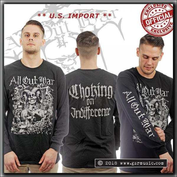 All Out War - Choking On Indifference - Longsleeve shirt - U.S. Import