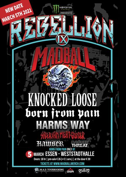Ticket Rebellion Tour 9 - Essen - Weststadthalle March 5th 2021