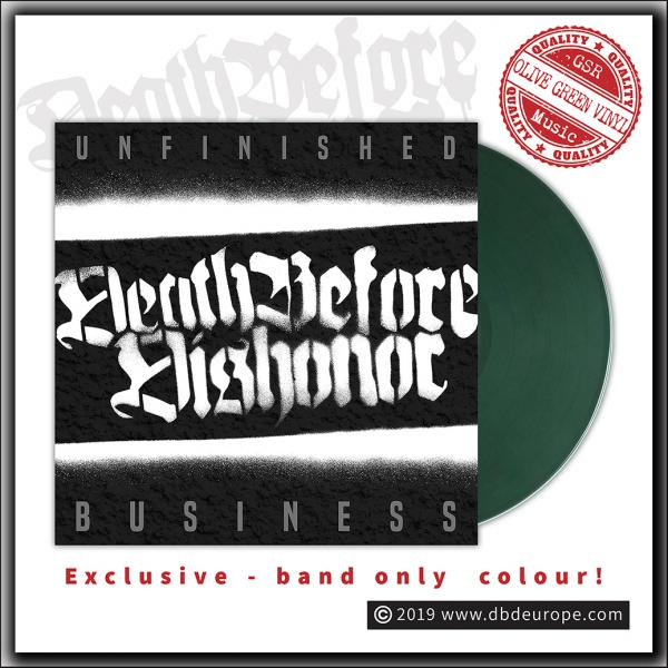 Death Before Dishonor - Unfinished Business - LP Olive Green